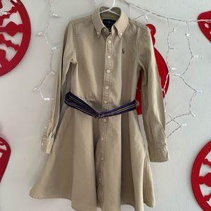 Girl's Ralph Lauren Khaki Dress